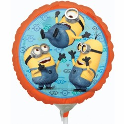 "MINIONS 9"" A20 INFLATED WITH CUP & STICK"