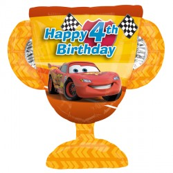 DISNEY CARS 4TH BIRTHDAY TROPHY SHAPE P38 PKT