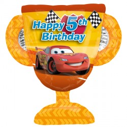 DISNEY CARS 5TH BIRTHDAY TROPHY SHAPE P38 PKT