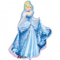 "DISNEY PRINCESS CINDERELLA SHAPE P38 PKT (33"" x 23"")"