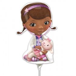 DOC McSTUFFINS POSE MINI SHAPE A30 INFLATED WITH CUP & STICK