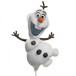 FROZEN OLAF MINI SHAPE A30 INFLATED WITH CUP & STICK