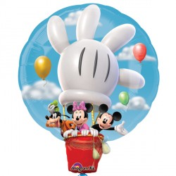 MICKEY MOUSE & FRIENDS HOT AIR BALLOON SHAPE P38 PKT