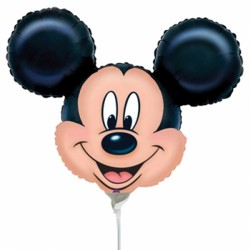 MICKEY MOUSE HEAD MINI SHAPE A30 INFLATE WITH CUP & STICK