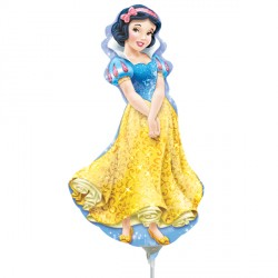 DISNEY PRINCESS SNOW WHITE MINI SHAPE A30 INFLATED WITH CUP & STICK