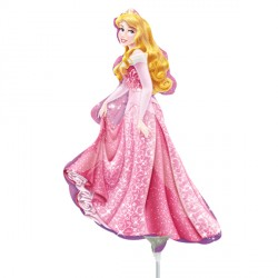 DISNEY PRINCESS SLEEPING BEAUTY MINI SHAPE A30 INFLATED WITH CUP & STICK