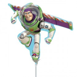 TOY STORY BUZZ LIGHTYEAR MINI SHAPE A30 INFLATED WITH CUP & STICK