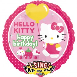 HELLO KITTY BIRTHDAY JUMBO SING A TUNE P75 PKT