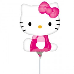 HELLO KITTY SIDE POSE MINI SHAPE A30 INFLATED WITH CUP & STICK