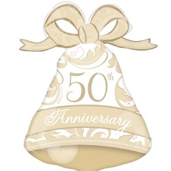 50TH ANNIVERSARY BELL SHAPE P30 PKT
