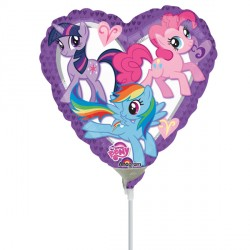 """MY LITTLE PONY HEART 9"""" A20 INFLATED WITH CUP & STICK"""
