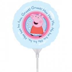 """PEPPA PIG 9"""" A20 INFLATED WITH CUP & STICK"""
