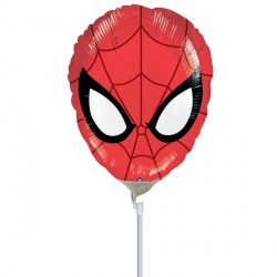 SPIDER-MAN ULTIMATE HEAD MINI SHAPE A30 INFLATED WITH CUP & STICK