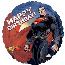 SUPERMAN MAN OF STEEL HAPPY BIRTHDAY STANDARD S60 PKT