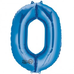 BLUE NUMBER 0 SHAPE P50 PKT