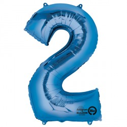 BLUE NUMBER 2 SHAPE P50 PKT
