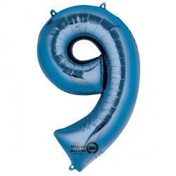 "BLUE NUMBER 9 SHAPE P50 PKT (22"" x 34"")"