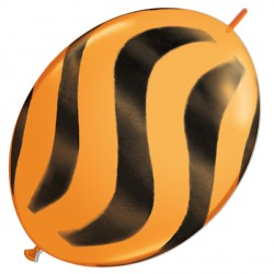 "WAVY STRIPES BLACK QUICK LINK 12"" ORANGE (50CT)"