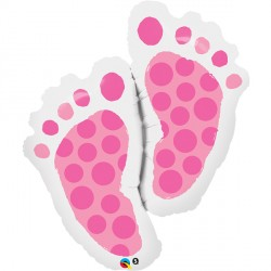 "BABY FEET PINK 35"" SHAPE GROUP C PKT"