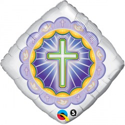 "ILLUMINATED CROSS 18"" PKT"