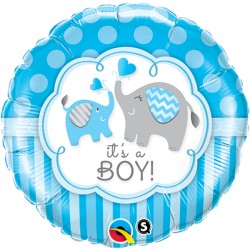"IT'S A BOY ELEPHANTS 18"" PKT"