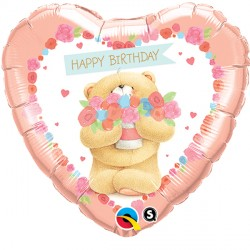 "FOREVER FRIENDS BIRTHDAY BEAR 18"" PKT"