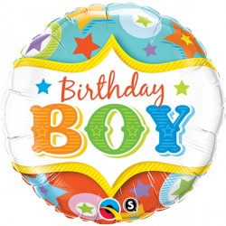 "BIRTHDAY BOY CIRCUS STARS 18"" PKT"