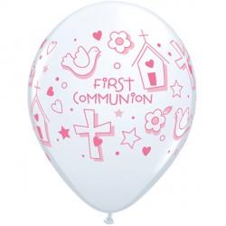 "FIRST COMMUNION SYMBOLS GIRL 11"" WHITE (25CT) YHG"