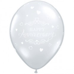"ANNIVERSARY CLASSIC HEARTS 11"" DIAMOND CLEAR (6X6CT)"