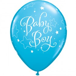 "BABY BOY STARS 11"" ROBIN'S EGG BLUE (6X6CT)"