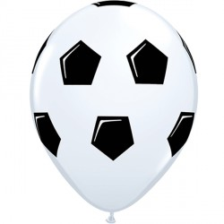 "SOCCER BALL 11"" WHITE (25CT)"