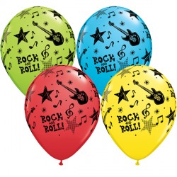 "ROCK & ROLL STARS 11"" RED, YELLOW, ROBIN'S EGG & LIME (25CT)"