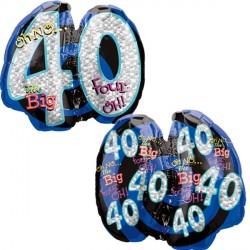 OH NO! IT'S MY BIRTHDAY 40 SHAPE P35 PKT