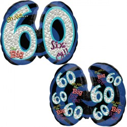 OH NO! IT'S MY BIRTHDAY 60 SHAPE P35 PKT