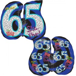 OH NO! IT'S MY BIRTHDAY 65 SHAPE P35 PKT