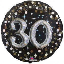 SPARKLING CELEBRATION 30 MULTI BALLOON SHAPE P75 PKT