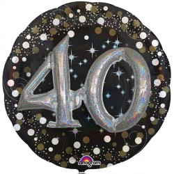 SPARKLING CELEBRATION 40 MULTI BALLOON SHAPE P75 PKT