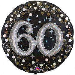 SPARKLING CELEBRATION 60 MULTI BALLOON SHAPE P75 PKT