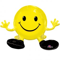 SITTING SMILE YELLOW MULTI BALLOON A70 PKT