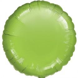 LIME GREEN METALLIIC ROUND STANDARD S15 FLAT A