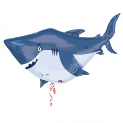 "OCEAN BUDDIES SHARK SHAPE P35 PKT (24"" x 24"")"