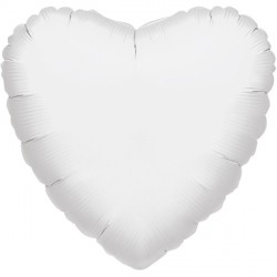 WHITE METALLIC HEART STANDARD S15 FLAT A