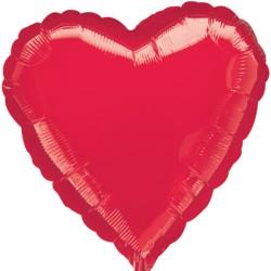 RED METALLIC HEART STANDARD S15 FLAT A