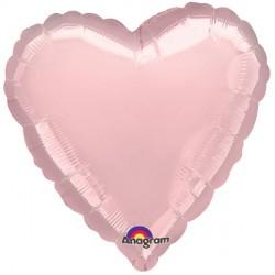 PEARL PASTEL PINK METALLIC HEART STANDARD S15 FLAT A