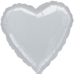 SILVER METALLIC HEART STANDARD S15 FLAT A