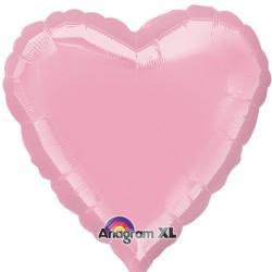PINK METALLIC HEART STANDARD S15 FLAT A