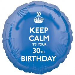 KEEP CALM IT'S YOUR 30TH BIRTHDAY STANDARD S40 PKT