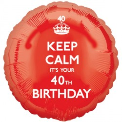 KEEP CALM IT'S YOUR 40TH BIRTHDAY STANDARD S40 PKT