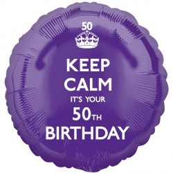 KEEP CALM IT'S YOUR 50TH BIRTHDAY STANDARD S40 PKT