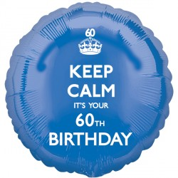 KEEP CALM IT'S YOUR 60TH BIRTHDAY STANDARD S40 PKT